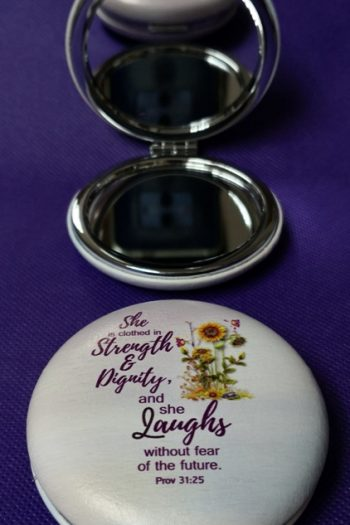 COMPACT MIRROR: SHE IS CLOTHED
