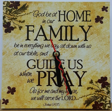 WALL CLOCK 'GOD BE AT HOME'
