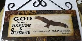WALL PLAQUE: GOD IS OUR REFUGE, EAGLE