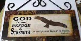 WALL PLAQUE: GOD IS OUR REFUGE, EAGLE