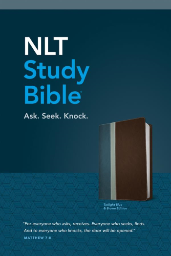 NLT STUDY BIBLE BLUE/BROWN RED LETTER