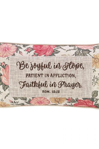 OBLONG PILLOW: BE JOYFUL IN HOPE