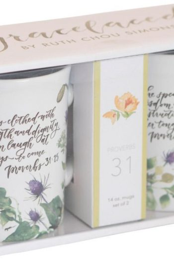 GRACELACED CERAMIC MUGS:SET OF 2