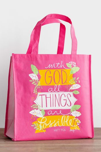 TOTE BAG:WITH GOD ALL THINGS ARE POSSIBL