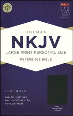 NKJV LARGE PRINT INDEXED REF BIBLE BLACK