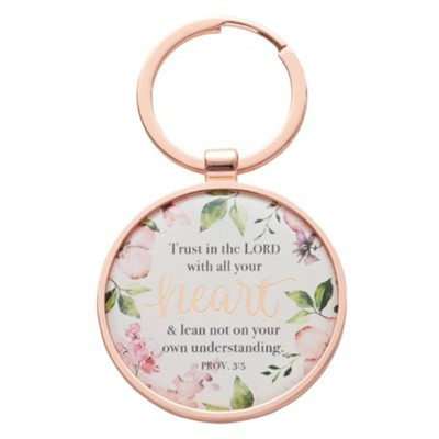 METAL KEYRING IN TIN: TRUST IN THE LORD