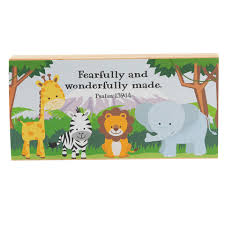 WOODEN PLAQUE: FEARFULLY & WONDERFULLY