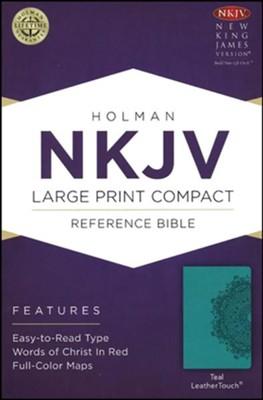 NKJV L/P COMPACT REF TEAL BIBLE