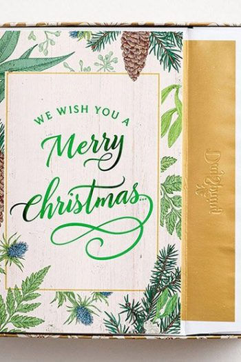 CHRISTMAS PREMIUM BOXED CARD:WE WISH YOU