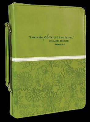 BIBLE COVER:I KNOW THE PLANS GREEN