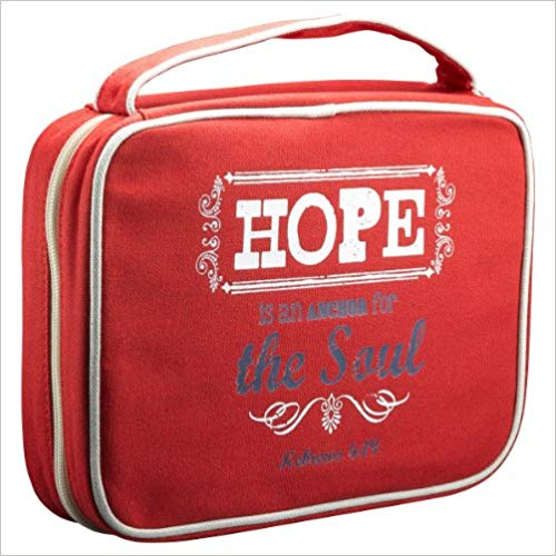 BIBLE COVER:MAY THE GOD OF HOPE RED