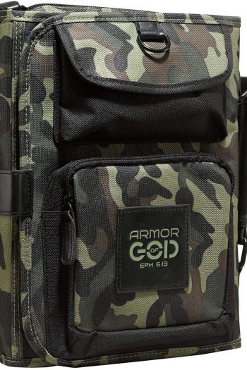 BIBLE COVER:ARMOUR OF GOD TRI FOLD CAMO
