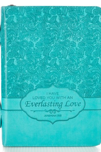 BIBLE COVER:EVERLASTING LOVE TURQUOISE