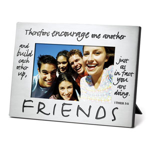 PHOTO FRAME:PEWTER FRIENDS