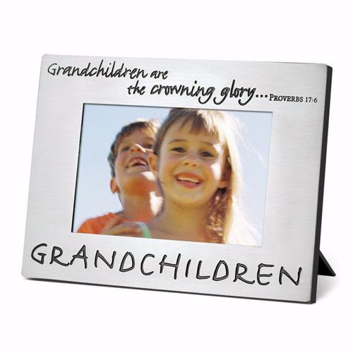 PHOTO FRAME:PEWTER GRANDCHILDREN