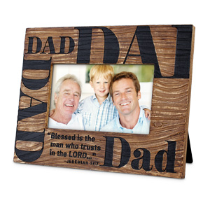 PHOTO FRAME:CAST STONE BLESSED DAD