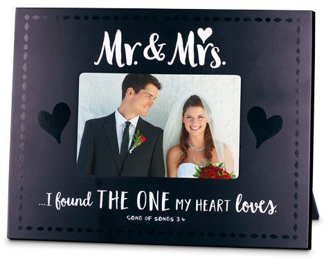 PHOTO FRAME:MR AND MRS