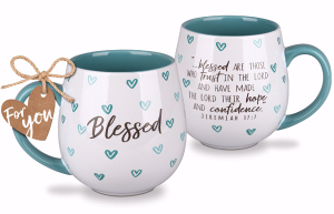 CERAMIC MUG:HAPPY HEART BLESSED