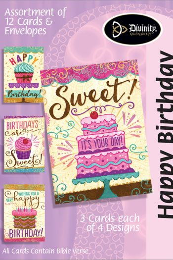 BOXED CARDS-HAPPY BIRTHDAY SWEET CAKES