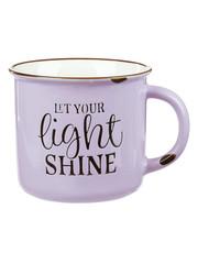 CAMP STYLE CERAMIC MUG: LET YOUR LIGHT