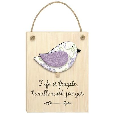 CHIRPS PLAQUE: LIFE IS FRAGILE
