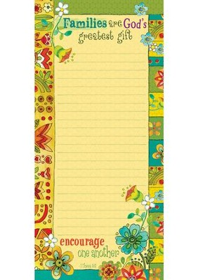 MAGNETIC NOTEPAD: FAMILIES