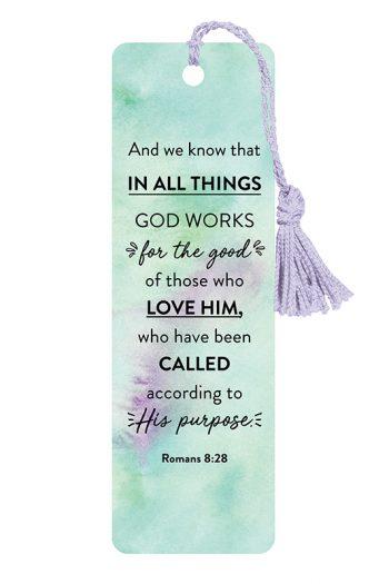 BOOKMARK WITH TASSEL: ROMANS 8:28