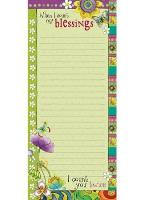 MAGNETIC NOTEPAD: WHEN I COUNT