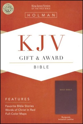 KJV GIFT AWARD BIBLE BURGUNDY