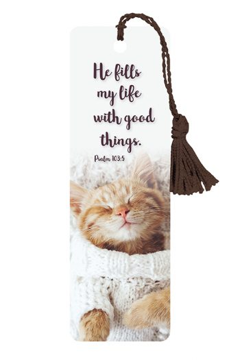 BOOKMARK WITH TASSEL: HE FILLS MY LIFE