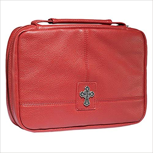 ORGANIZER WITH CROSS TWO-FOLD RED