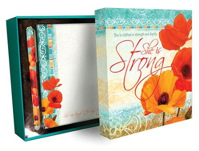 MEMO PAD & PEN GIFT SET:SHE IS STRONG